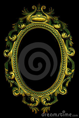 ornate gold frame stock images image 3970924