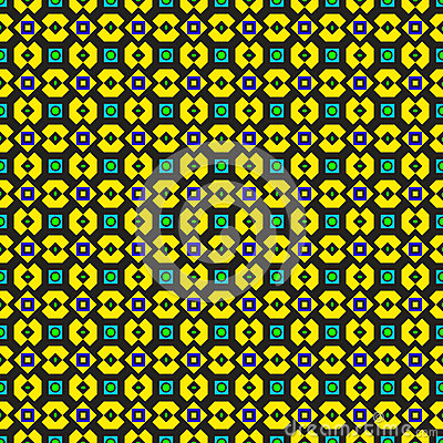Ornate Green and Yellow Pattern