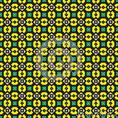 Ornate Green and Yellow Pattern