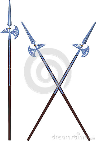 Ornate halberds