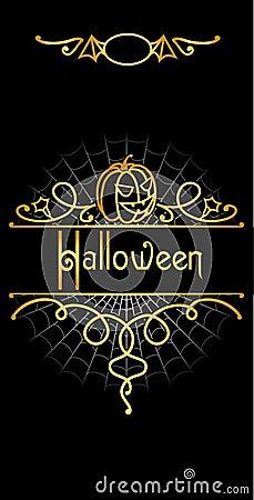Ornate halloween flayer