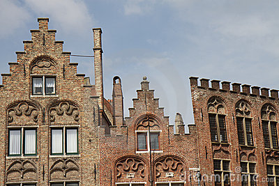 Ornate and historic rooftops in Bruges
