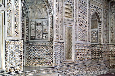 Ornate Inlaid Marble Building