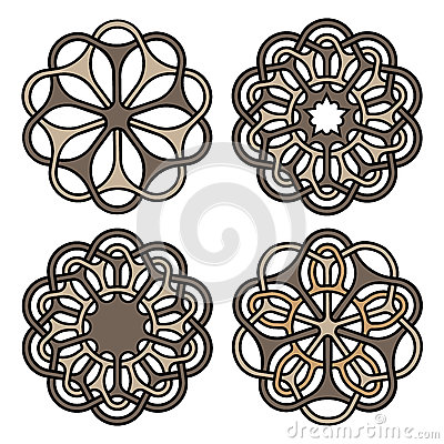 Free Ornate Mandalas Or Tattoo Symbols Set. Vector Illustration Stock Photo - 88180270