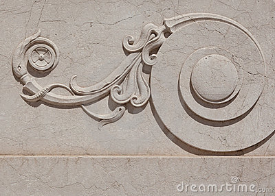 Ornate marble scroll