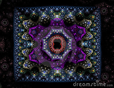 Ornate oriental carpet