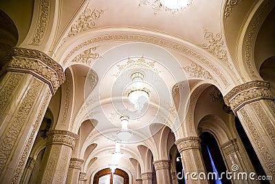 Ornate palace columns