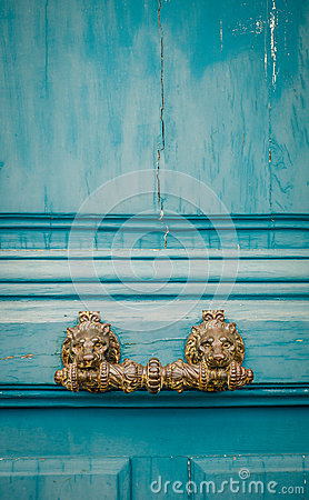 Free Ornate Paris Door Handle Stock Photos - 45826653