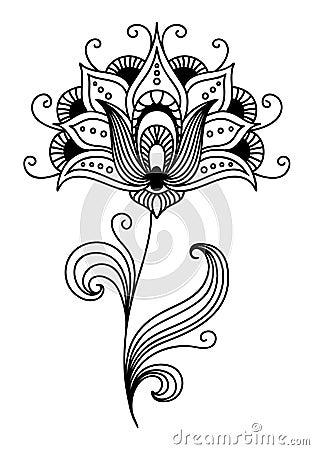 Ornate persian floral design