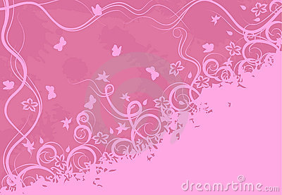 Ornate pink background