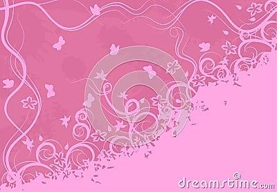 Ornate pink background