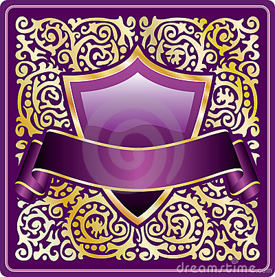 Ornate purple