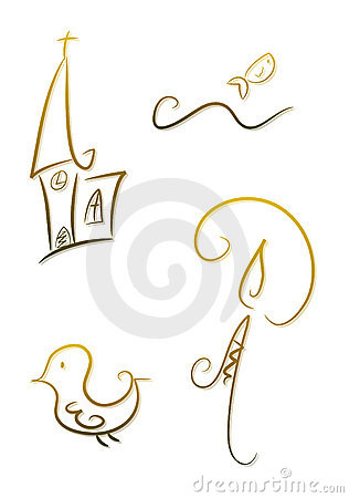 Free Ornate Religious Symbols Royalty Free Stock Photo - 14136405