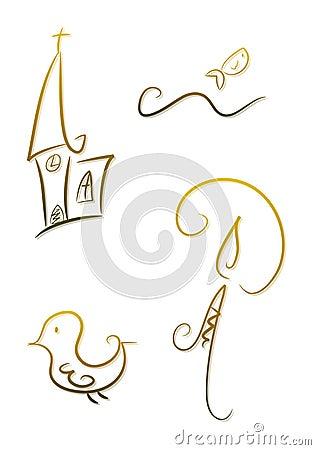 Ornate religious symbols