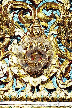 Ornate Statue in Wat Pho (Pho temple), Bangkok, Thailand