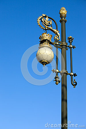 Ornate Street Lamp Stock Photos - Image: 24856963