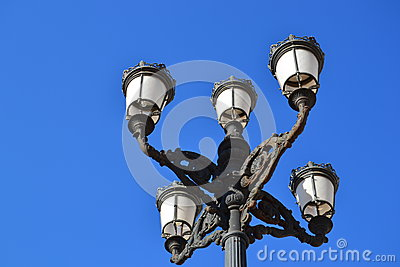 Ornate street lanterns