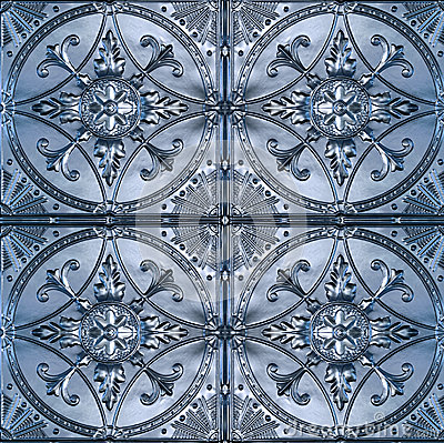 Free Ornate Tin Ceiling Tiles Royalty Free Stock Photo - 43871465