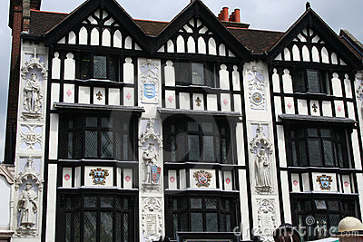 Ornate Tudor Building.