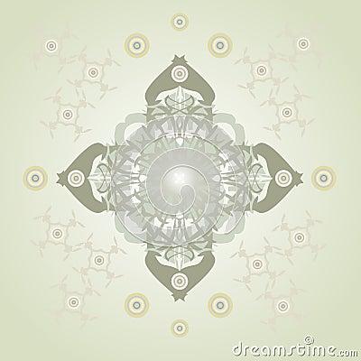Ornate vector cross