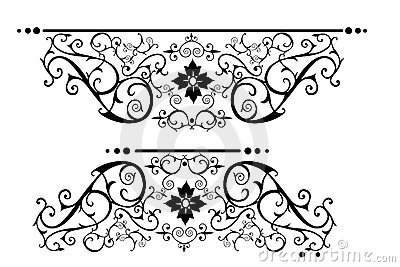 Ornate victorian scrolls in black