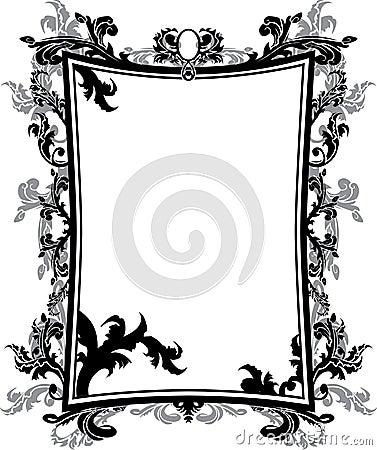 Ornate vintage frame stencil