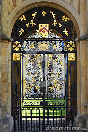 Free Ornate Wrought Iron Gates, Oxford Royalty Free Stock Images - 36114509