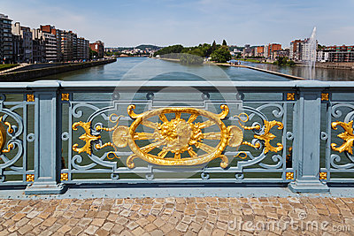 Ornated bridge railing in Liege