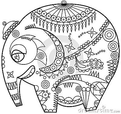 Ornated elephant