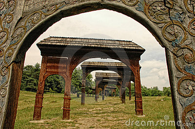 Ornated and patterned wooden szekler gates
