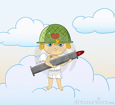 Orężnego bazooka kreskówki amorka śmieszny valentine