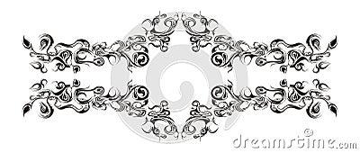 Ornement horizontal floral