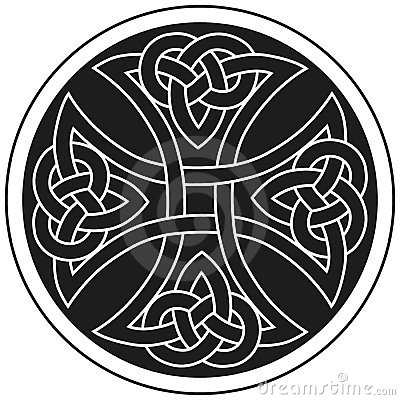Ornement traditionnel de croix celtique de vecteur