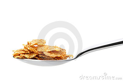 Сornflakes. A dry breakfast in a spoon.