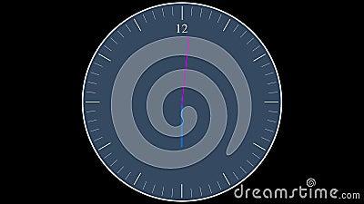 Orologio corrente al rallentatore video d archivio