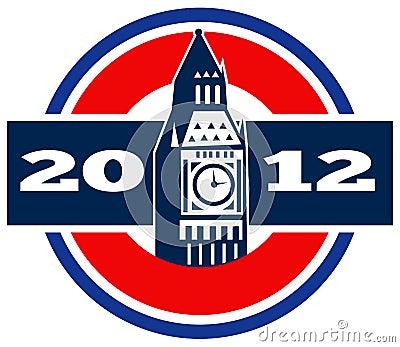 Orologio Tower2012 di Londra grande Ben