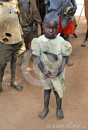 Free Orphan Girl Suffers Effects Drought,famine & Poverty Uganda,Africa Stock Image - 47131081