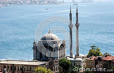 Ortakoy Mosque in Istanbul Turkey