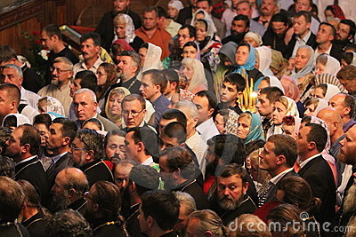 Orthodox Believers Editorial Photo