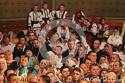 Orthodox Believers Editorial Stock Photo