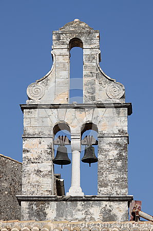 Orthodox bell tower in Corfu