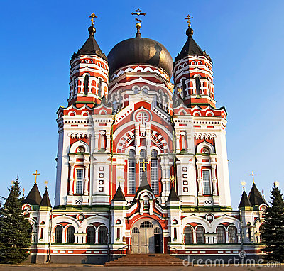 Orthodox cathedral in Feofaniya