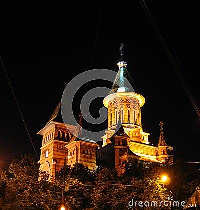 Free Orthodox Cathedral Of Timisoara At Night - Romania Stock Photo - 857000
