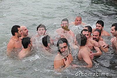 Orthodox Christians celebrate the epiphany Editorial Photography