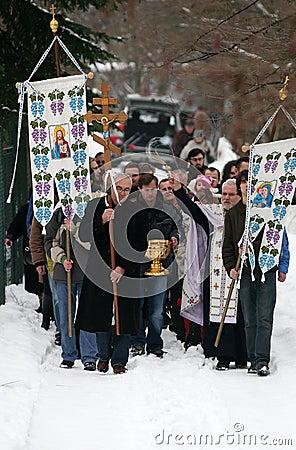 Orthodox Christians celebrate Epithany Editorial Stock Photo