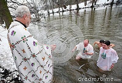 Orthodox Christians celebrate Epithany Editorial Stock Image