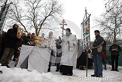 Orthodox Christians celebrate Epithany Editorial Photo