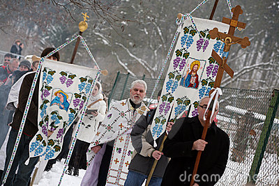 Orthodox Christians celebrate Epithany Editorial Stock Image