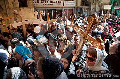 Orthodox Christians mark Good Friday in Jerusalem Editorial Image