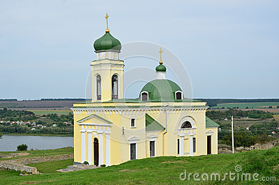Orthodox church above the river